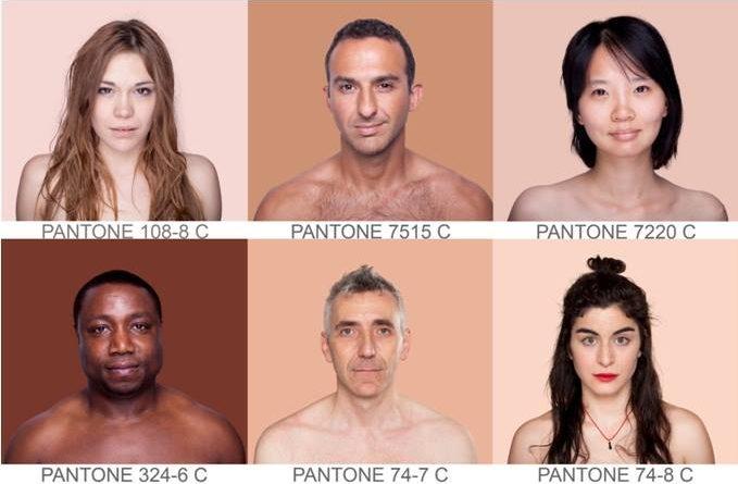 Pantone Humano por Angelica Dass
