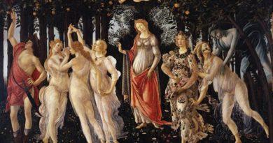 A Primavera, têmpera sobre madeira de Sandro Botticceli (1445-1510), é um exemplo clássico da beleza necessária à obra de Arte
